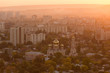 overlooking the city at sunset, the red haze - 227644853