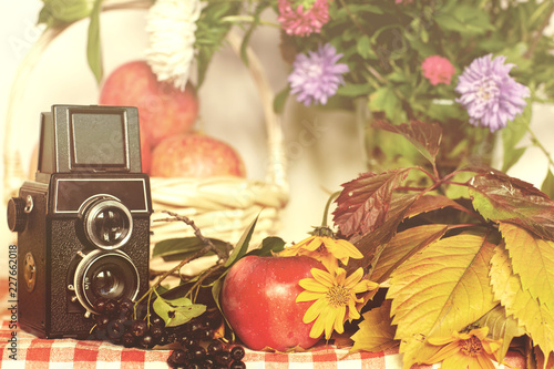 Foto Murales Autumn composition on the table