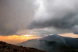 The Stormy Sunset, the View from the Telica Volcano