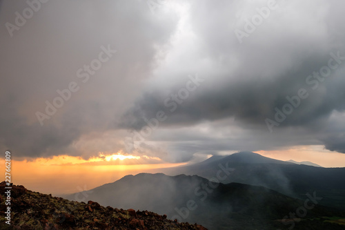 The Stormy Sunset, the View from the Telica Volcano  - 227662809