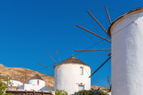 Picturesque windmills in Ano Chora on the island of Serifos. Greece - 227695651