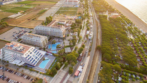 Sticker Aerial photography, aerial, landscape, nature, drone, beautiful, photography, water, skyline, beach, country