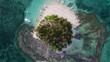 Small island close to Siargao (Philippines).