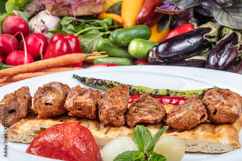 Turkish Cuisine Meat Skewers - 227701803