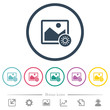 Adjust image brightness flat color icons in round outlines