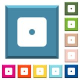 Domino one white icons on edged square buttons - 227706059