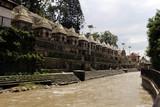 Dozens or hundreds of small temples across Bagmati River of Pashupatinath in Kathmandu - 227717888