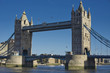 European City in Early Winter - London, England - Tower Bridge from the South Bank.