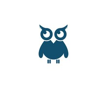 Owl Logo Sticker