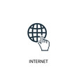 internet icon. Simple element illustration. internet concept symbol design. Can be used for web and mobile.