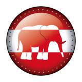 Isolated elephant of vote design