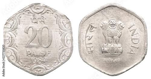 Foto Murales Indian paisa coin