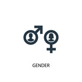Gender icon. Simple element illustration. Gender concept symbol design. Can be used for web and mobile. - 227731493