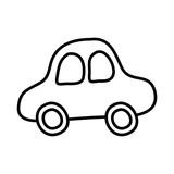cute car drawing icon