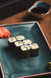 sushi on plate
