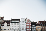 September 1, 2018 - Gdansk / Poland: Architecture of Gdansk, Poland in Old Town Center. Buildings.
