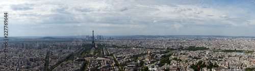 The city skyline at daytime. Paris, France. Taken from the tour Montparnasse - 227769644