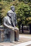 Part of the monument of Karl Marx and Friedrich Engels in the Marx-Engels-Forum, a public park in the central Mitte district of Berlin, Germany - 227773241
