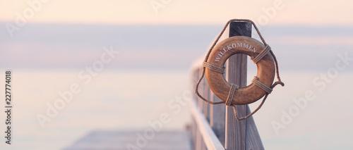 Leinwandbild Motiv Entspannung am Meer