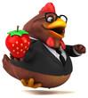 Fun chicken - 3D Illustration - 227789053