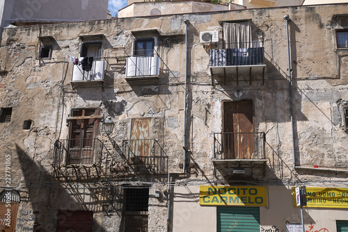 Palermo, Italy - September 08, 2018 : Old building in Palermo