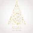 Christmas Tree with geometric elements - 227824419
