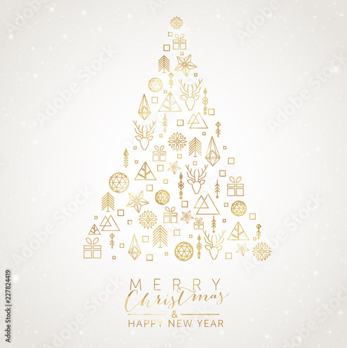 Christmas Tree with geometric elements © elaborah