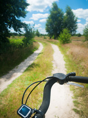 Cycling trip in summer