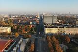 Łódź, Polska- widok na centrum.