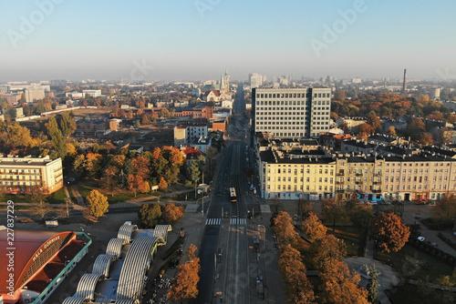 Łódź, Polska- widok na centrum. - 227837229
