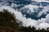 Clouds in the valley Bhutan