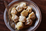 A plate of Momo, the South Asian or Tibetan style dumpling