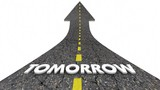 Tomorrow Next Day Future Road Arrow 3d Animation - 227850477