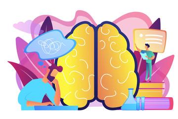 Alzheimer disease concept vector illustration.