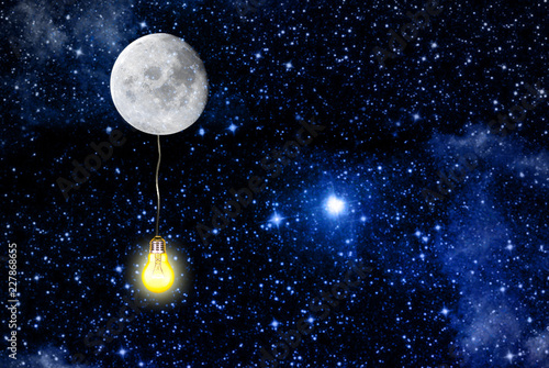 lighting moon space.elements of this image furnished by NASA