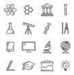 Science and education vector icons