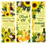 Natural oil and butter products, vector - 227870682