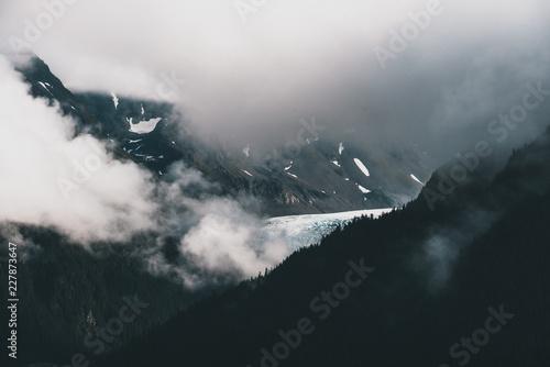 Cloudy Mountaintop in Alaska - 227873647