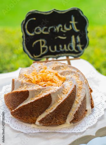 Słodkie ciasto z kokosem