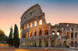 Quadro Sunrise view of the Colosseum in Rome in the early morning, Rome, Italy,