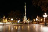 Night view of the La Rambla. Catalonia, Spain - 227884496