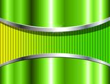 Abstract background green metallic, 3D vector design.