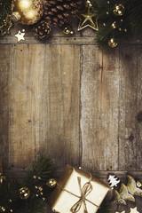 Christmas theme background in vintage style © Natalia Klenova