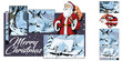 Collage on theme christmas and new year. Stock illustration. - 227888667