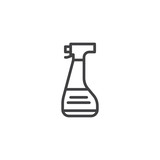 Spray bottle outline icon. linear style sign for mobile concept and web design. Forensics equipment simple line vector icon. Symbol, logo illustration. Pixel perfect vector graphics - 227892440