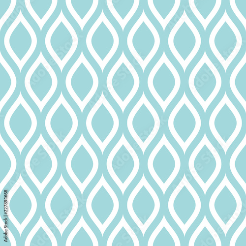 Abstract Retro Seamless Pattern Lemons Turquoise - 227894668