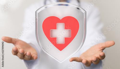 Leinwanddruck Bild medicine heart