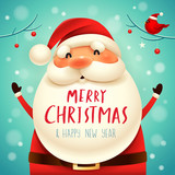 Christmas Santa Claus. Christmas cute cartoon character. - 227910685