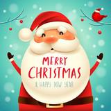Christmas Santa Claus. Christmas cute cartoon character.