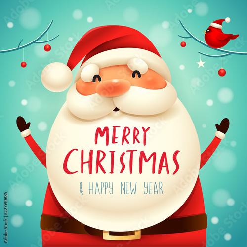 Christmas Santa Claus. Christmas cute cartoon character. - 227910685